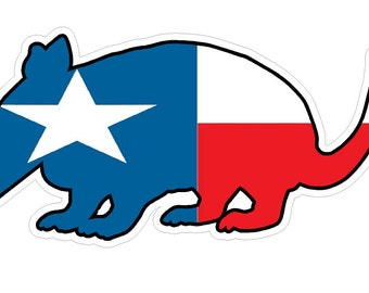 Armadillo Texas State Flag (Z4) Lone Star Vinyl Decal Sticker Car/Truck Laptop/Netbook Window