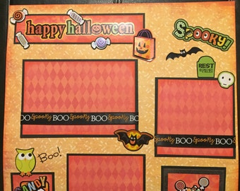 HAPPY HALLOWEEN Premade 12x12 scrapbook page