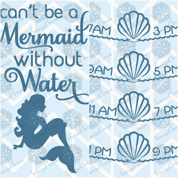 Svg Amp Dxf Design Can T Be A Mermaid Without Water Bottle