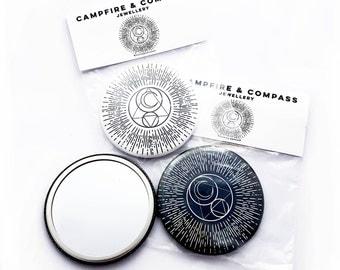 Campfire & Compass Mystical Occult Pocket Mirror