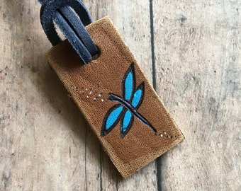 Personalized luggage tags, custom luggage tag, mini luggage tag, rustic tags