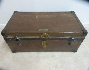 antique steamer truck luggage coffee table B