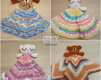 Baby lovey Security blanket Teady Doggy Baby comforter