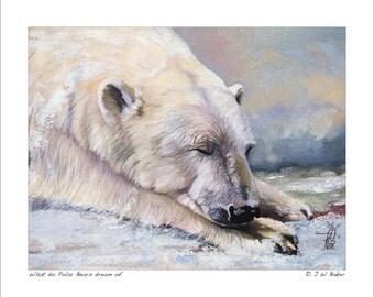 8x10 Print -  What do Polar Bears dream of? © J W Baker