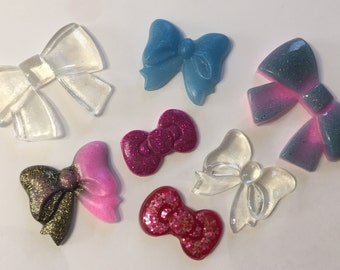 7 colored resin ribbons for scrapbooking