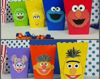10 Sesame Street Inspired Snack/Favor Boxes