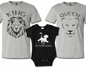 Set of 3 Family Shirts, daddy mommy and baby shirts, baby onesies Shirts, lion king shirts, funny tshirts, family set shirts, baby onesies