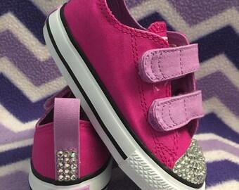 Velcro Bling Converse for Girls