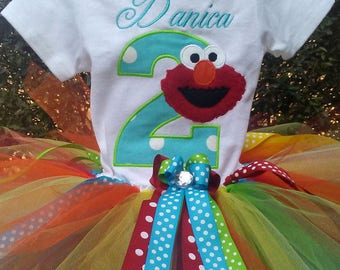 Elmo 2nd Birthday Outfit Elmo 2nd Birthday Shirt Elmo Birthday Outfit Elmo Birthday Shirt Elmo Birthday Dress Personalized Elmo Birthday