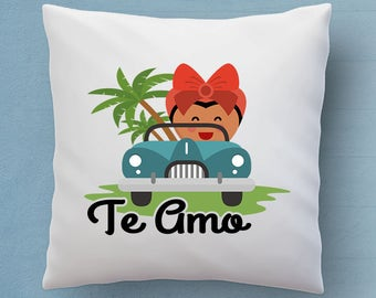 Te Amo Pillow - Say I Love You In Spanish - Cute Decorative Pillow 18x18 inches