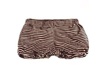 Black & Tan Striped Blooms - Striped Shorts - Toddler Shorts - Neutral Baby Shorts - Bloomers - Shorties - Baby Gift - Shorts
