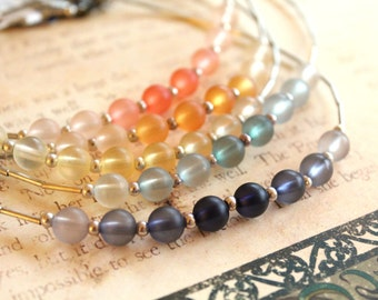 New Old Stock Vintage Kim Choker // Choose Your Color // Kim Craftsmen // With Original Tag // Kim Copper // Beaded Choker // Rainbow