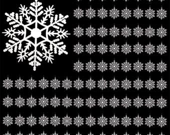 "White Snowflake Ornaments - Pack of 96 Hanging 3"" Snowflakes - Shatterproof Snow Flake Ornaments - Snowflake Decorations"