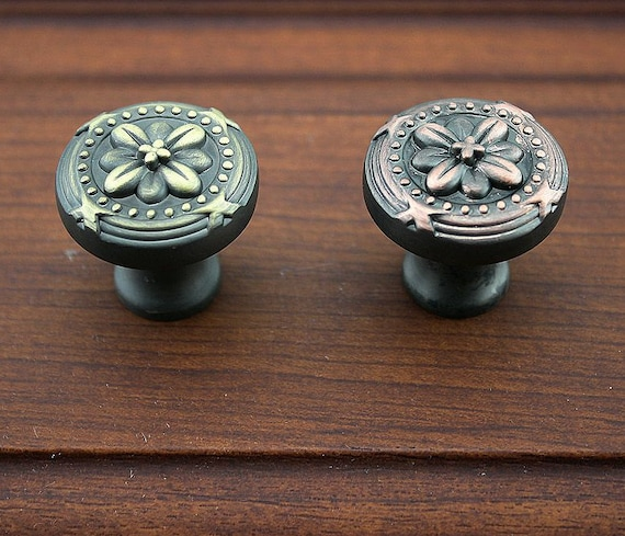 Kitchen cabinet knobs and pulls flower dresser knobs - Red kitchen cabinet knobs ...