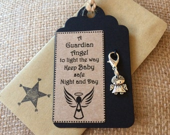 Gift Tag - Clip on Angel Charm for Baby