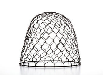 Cleveland Vintage Lighting™ Chicken Wire Shade - Metal - Dome - Black - 10 x 8.25 inches    CLE30397A