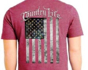 Country Life American Flag shirt NEW