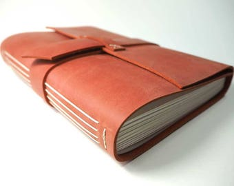 B6 Leather Long-Stitch Journal (5 x 7 in). Leather Bound Book, Leather Notebook, Leather Journal, Leather Sketchbook, B6 Leather Sketchbook