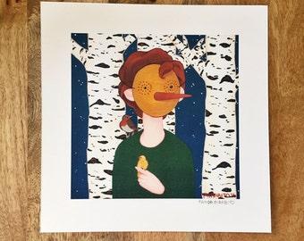 "The Birds 8"" X 8"" Print"