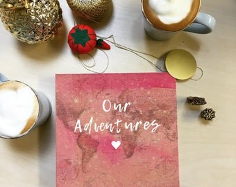 Our Adventures | photo album - scrapbook for travelers