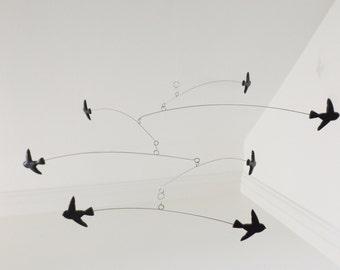 Modern Black Mobile Kinetic Modern Mobile  Bird Mobile
