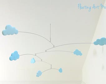 Baby Mobile, Cloud Mobile, Cloud Decor, Hanging Mobile, Nursery Crib Mobile, Blue cloud, Cloud Nursery, Modern Baby, Mobiles, Crib Mobile