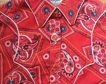 Vintage Wrangler Shirt // 70's Wrangler Shirt // Western Shirt