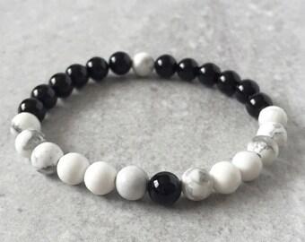 Yin & Yang Bracelet - Healing Gemstones - Mala Meditation Jewelry