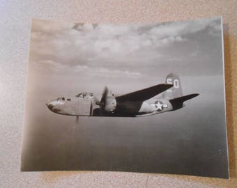 Vintage WWII Photo Snapshot A-20 Invader In Flight