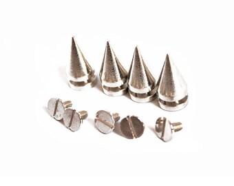 50 - 100 Pcs 10mm x 20mm Spike Punk Rivets Silver Metal Stud Denim Leather Craft