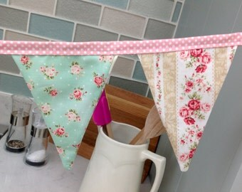 Floral vintage style bunting