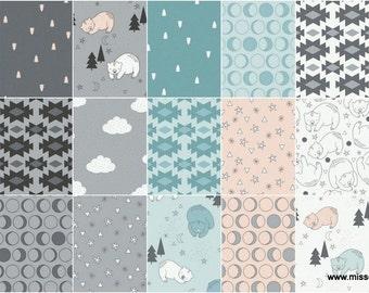 Woodland Bears Fat Quarter Set, 21 FQs per Bundle by Bonnie Nuit ~ Camelot Fabrics ~ 100% Quilt Shop Quality Cotton ~ Quilting, Crafting