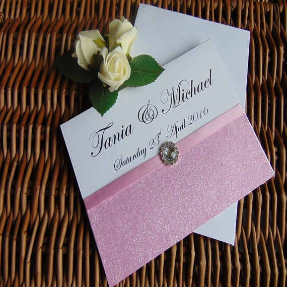 wedding invitations glitter wedding invitations handmade wedding