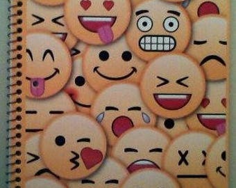 Emoticon Wide-Ruled Notebook