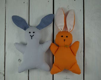 bunny rabbit soft toy sewn handmade cuddly cute photo prop baby gift shower stuffed animal baby shower traditional Waldorf toy new baby toy