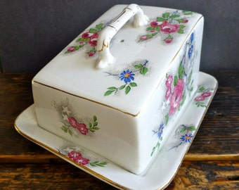 Pretty Ceramic Butter / Cheese Dish by Grimwades