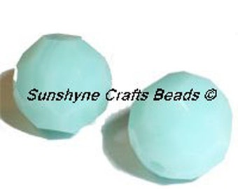 Swarovski Crystal Beads 5000 Series MINT ALABASTER Faceted Round Bead - Sizes 6mm & 8mm available