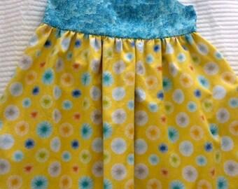 Bright colored cotton sundress