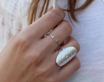 Boho ring - bohemian ring- minimal jewelry - sterling silver ring - Gypsy Ring - Bohemian Ring-Big Silver Statement Ring - Boho Tribal