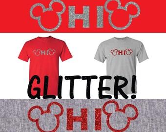 Ohio Mickey glitter t shirt, shirt, Ohio, Buckeyes