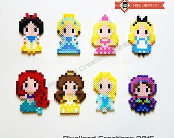 Disney Chibi/Kawaii Princess Magnets - Choose from Elsa, Anna, Ariel, Belle, Cinderella, Snow White, Aurora or Alice.