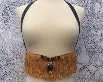 Gold Fringe Harness