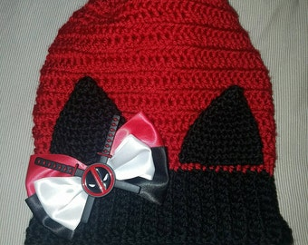 Deadpool cosplay cat hat