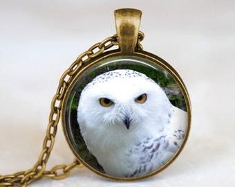 White Own - Nature Animal Handmade Pendant Necklace