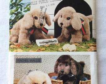 Vintage 1987 UNCUT Butterick 460 New Stuffed Puppy Dog Pattern