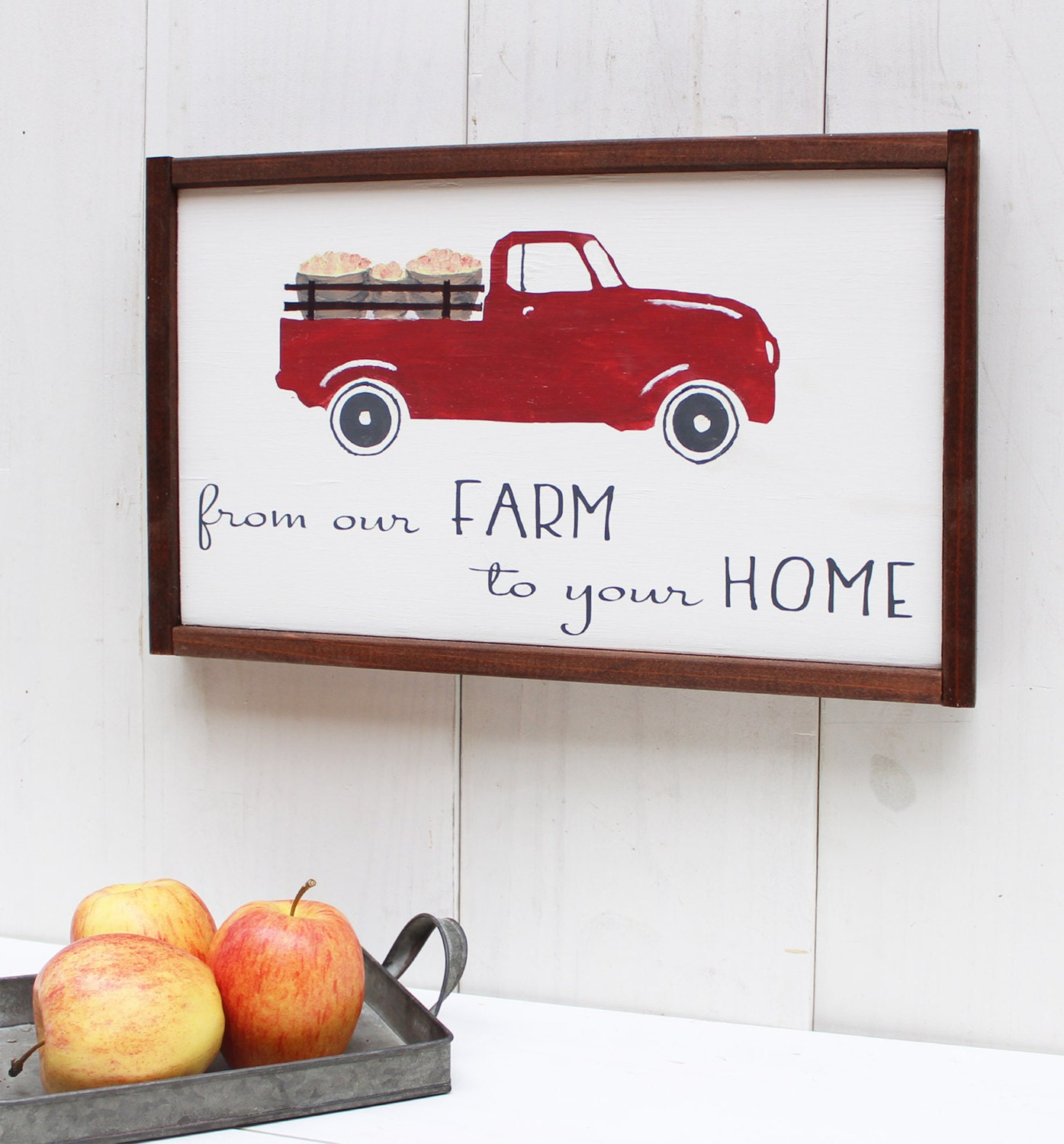 Farmhouse Kitchen Sign Red Truck Sign Farmhouse Sign