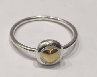 Love Heart Stacker Ring - Gold Heart