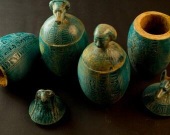 porcelain Canopic Jars ancient egyptian copy antique