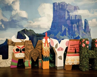 Moana Paper Mache Letters - ONE LETTER