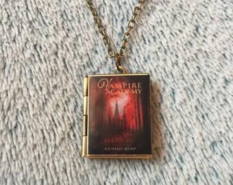 Vampire Academy Book Locket Necklace